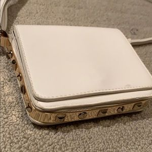 Handbags - Cream and stud cross body